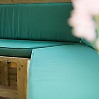 Forest Garden Furnished Cedar Roof Hexagonal Gazebo (W)4900mm (D)4240mm (Green Cushion included)
