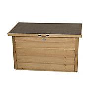 Forest Garden Loglap Wooden 3x2 Lift up sloping Garden storage box