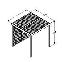 Forest Garden Modular Square Pergola, (H)2045mm (W)1970mm