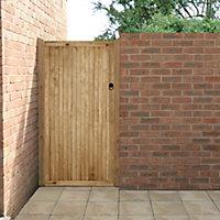 Forest Garden Nosie reducution Wood Slatted Gate, (H)1.8m (W)0.9m