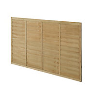 Forest Garden Premier Lap Pressure treated Fence panel (W)1.83m (H)1.22m, Pack of 4
