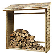 Forest Garden Pressure treated Wooden 6x2 Wall log store
