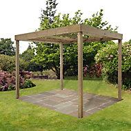 Forest Garden Rectangular Pergola, (H)2800mm (W)3040mm