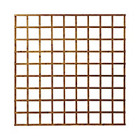 Forest Garden Traditional Square Dip treated Trellis panel (W)1.83m (H)1.83m