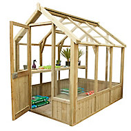 Forest Garden Vale 8x6 Toughened glass Apex Greenhouse
