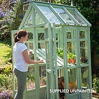 Forest Garden Victorian walkaround 4x3 Styrene Apex Greenhouse- with Auto vent
