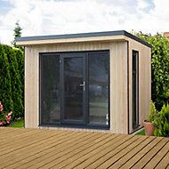 Forest Garden Xtend 10x9 Pent Tongue & groove Cabin - Assembly service included