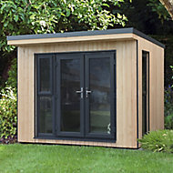 Forest Garden Xtend+ 10x9 Pent Tongue & groove Cabin with Double door