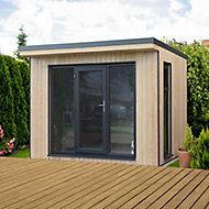 Forest Garden Xtend 10x9 Pent Tongue & groove Cabin with Single door