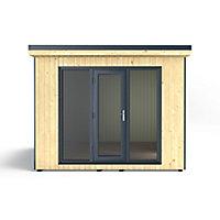 Forest Garden Xtend 10x9 Pent Tongue & groove Garden office with Single door