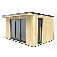 Forest Garden Xtend 13x11 Pent Tongue & groove Cabin - Assembly service included