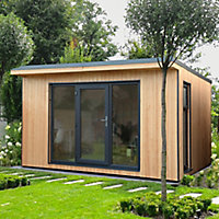 Forest Garden Xtend 13x11 Pent Tongue & groove Garden office - Assembly service included