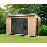 Forest Garden Xtend+ 13x11 Pent Tongue & groove Garden office - Assembly service included