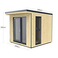 Forest Garden Xtend+ 8x9 Pent Tongue & groove Cabin