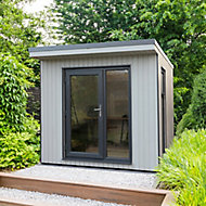 Forest Garden Xtend 8x9 Pent Tongue & groove Garden office with Single door