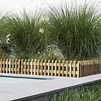 Forest Timber Pikasso Lawn edging, (H)90mm (L)1.19m