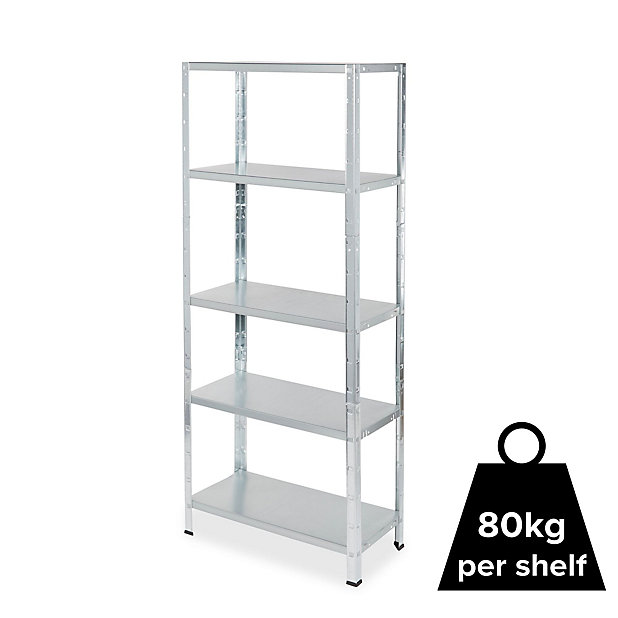 Form Axial 5 Shelf Steel Shelving Unit H 1800mm W 750mm Diy At B Q