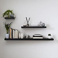 Form Cusko Black Floating shelf (L)300mm (D)235mm