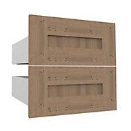 Form Darwin Modular Oak effect External Drawer (H)237mm (W)500mm (D)566mm, Pack of 2