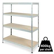 Form Exa 4 shelf Medium-density fibreboard (MDF) & steel Shelving unit (H)1800mm (W)1500mm