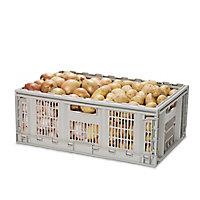 Form Foldie Heavy duty Grey 46L Storage crate & Lid & castors