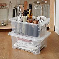 Form Kaze Clear 10L Plastic XS Stackable Storage box