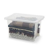 Form Kaze Clear 15L Plastic Small Stackable Storage box & Lid