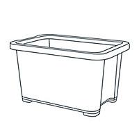 Form Kaze Clear 3L Plastic XXS Stackable Storage box