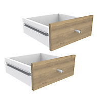Form Konnect Oak effect Drawer (H)322mm (W)322mm (D)310mm, Pack of 2