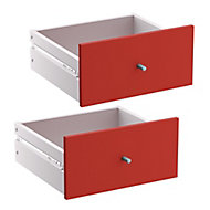 Form Konnect Red Drawer (H)322mm (W)322mm (D)310mm, Pack of 2