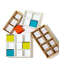 Form Mixxit Matt white 8 8 Shelf Cube Shelving unit (H)1420mm (W)740mm (D)330mm