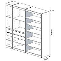Form Perkin Matt grey oak effect Storage Partition panel (L)2008mm (W)480mm