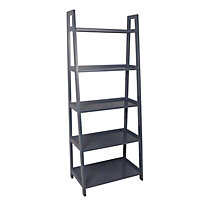 Form Radius Grey 5 Shelf Bookcase (H)1735mm (W)400mm