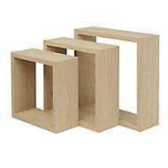 Form Rigga Cube Cube shelf (D)98mm, Set of 3