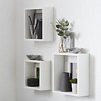 Form Rigga White Cube Cube shelf (D)98mm, Set of 3