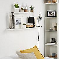 Form Rigga White Wall shelf (L)600mm (D)190mm