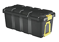 Form Skyda Black 68L Plastic Storage trunk