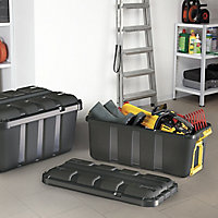 Form Skyda Black 68L Plastic Storage trunk