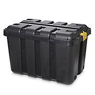 Form Skyda Heavy duty Black 149L Plastic Nestable Storage trunk