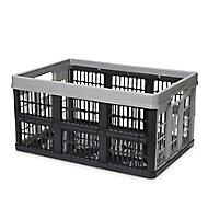Form Stuva Black & Grey 45L Polypropylene (PP) Foldable Storage crate