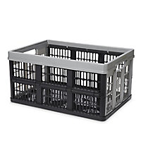 Form Stuva Black & Grey 45L Polypropylene (PP) Foldable Storage crate