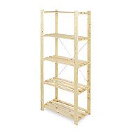Form Symbios 5 shelf Wood Shelving unit (H)1700mm (W)750mm