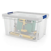 Form Xago Heavy duty Clear 51L Polypropylene (PP) Stackable Storage box