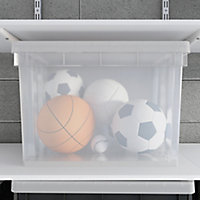 Form Xago Heavy duty Clear 68L Stackable Storage box