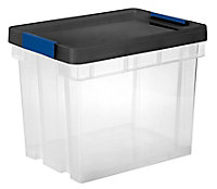 Form Xago Heavy duty Clear 94L Plastic Stackable Nestable Storage box