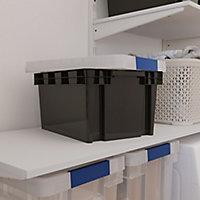 Form Xago Heavy duty Grey 15L Polypropylene (PP) Stackable Storage box