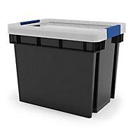 Form Xago Heavy duty Grey 24L Plastic Medium Stackable Storage box & Lid