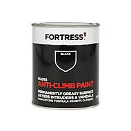 Fortress Black Gloss Anti-climb paint, 750ml