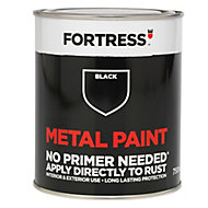 Fortress Black Satin Metal paint, 0.75L