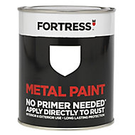 Fortress White Gloss Metal paint, 0.75L